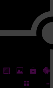 Minimalist_Purple - ADW Theme- screenshot thumbnail