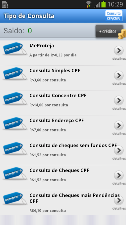 Consulta CPF / CNPJ- screenshot