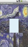 Screenshot of Van Gogh slidepuzzle