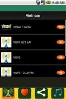 Screenshot of Radio Vietnam