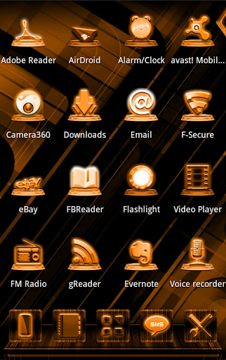 NEXT LAUNCHER OGE STYLE THEME