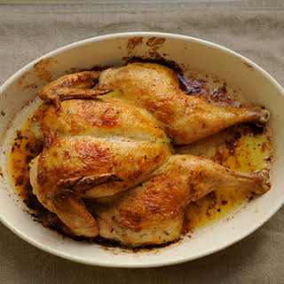 Spatchcocked Roast Chicken.