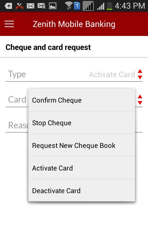 Zenith Bank Mobile App - screenshot