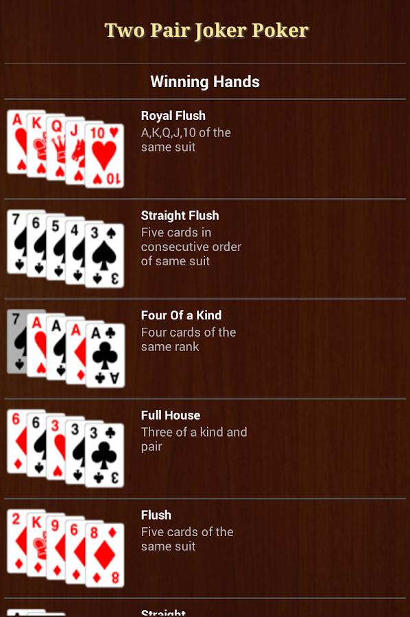 Joker poker strategy
