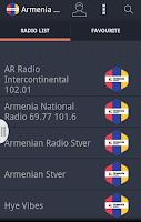 Screenshot of Armenia Radio