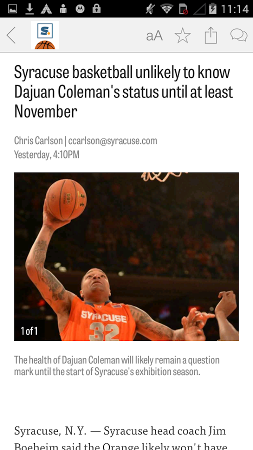 syracuse.com: SU Hoops News- screenshot