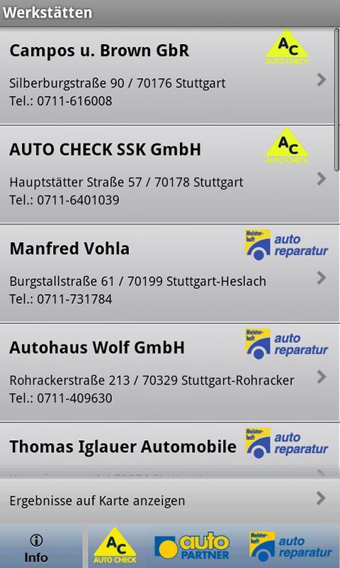 Werkstattfinder- screenshot