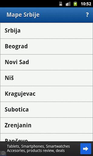 Mape Srbije