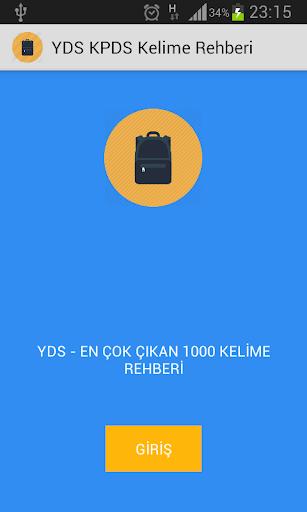 YDS KPDS 1000 Kelime Rehberi
