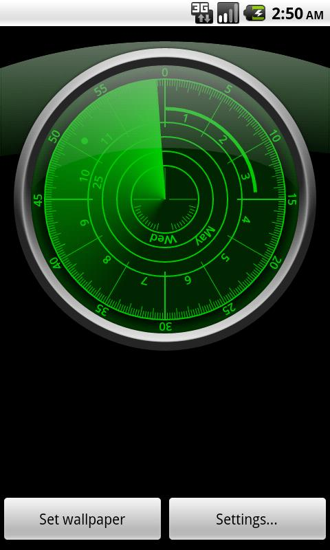 radar clock livewallpaper android apps on google play