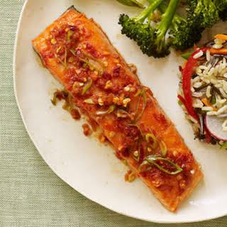 Chili-Glazed Salmon.