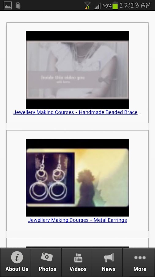 Jewellery Making Courses - screenshot