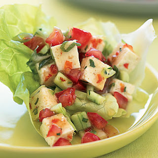 Spicy Lime and Herbed Tofu in Lettuce Cups