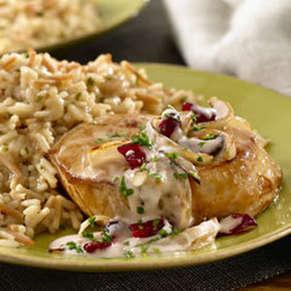 Cranberry Glazed Pork & Mushroom Rice