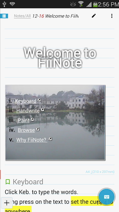 FiiNote, note everything- screenshot