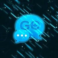 GO SMS Theme Black Blue 2.5