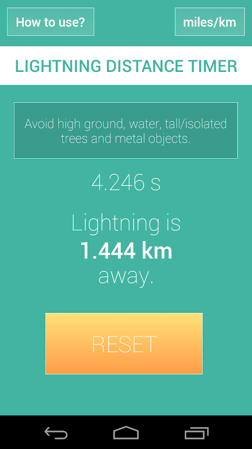 how to tell the distance of a lightning strike