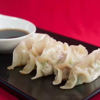 Chinese Pork Dumplings with Soy Ginger Dipping Sauce.