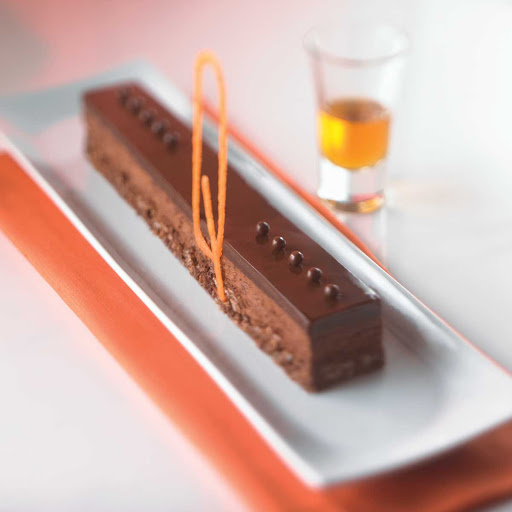 What could be a better epitaph?: the Chocolate Tombstone at Celebrity Cruises's Qsine restaurant.