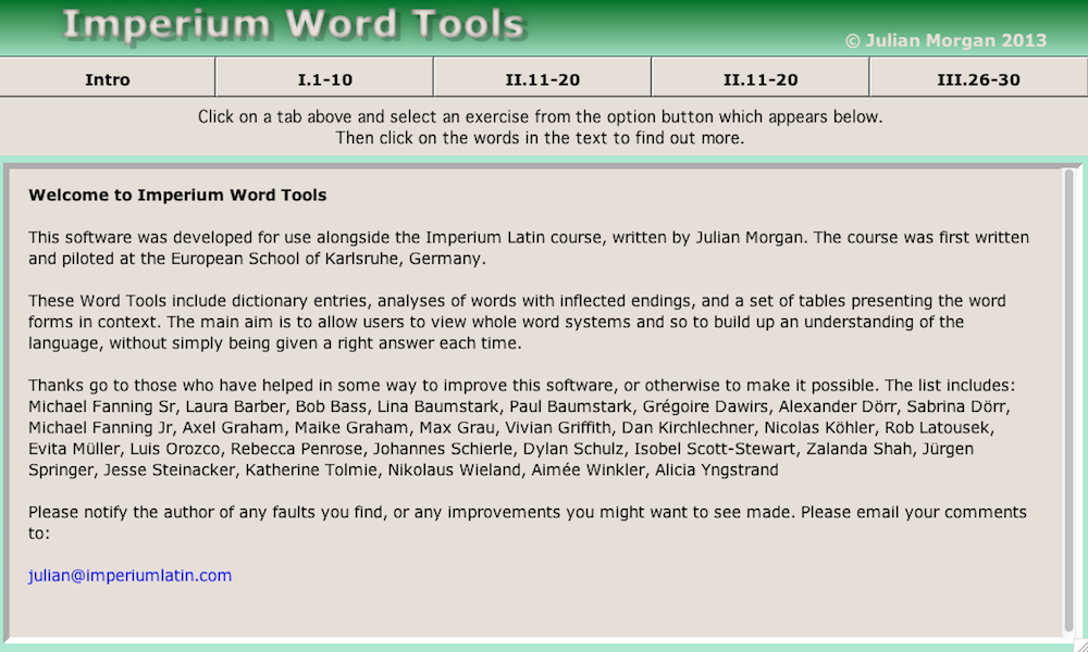 Imperium Word Tools- screenshot