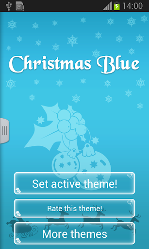 聖誕節藍色鍵盤