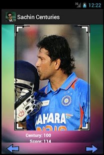 Sachin Tendulkar 100 Centuries - screenshot thumbnail
