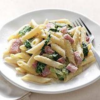 Lemon Penne with Ham and Escarole Recipe