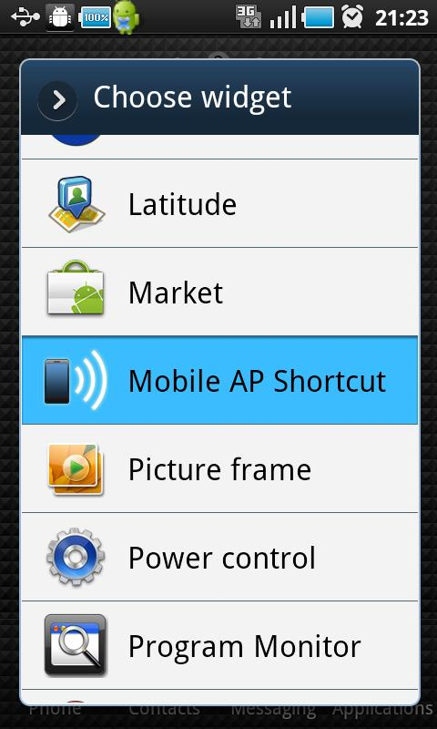 Mobile AP Shortcut - screenshot