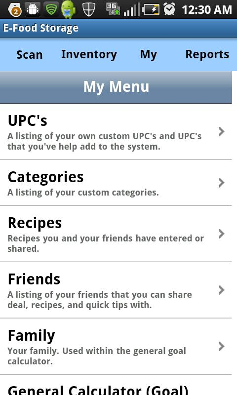 E-Food Storage- screenshot
