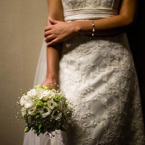 Waiting by Jorge Asad - Wedding Getting Ready ( waiting, elegance, wedding, getting ready, flowers, bride )