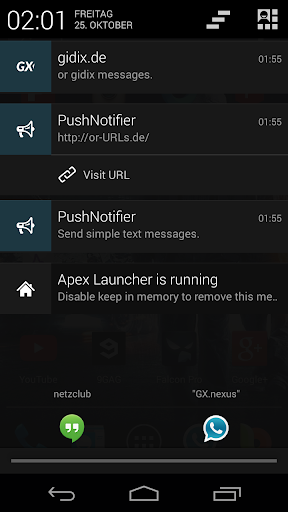 PushNotifier