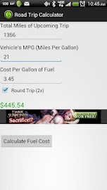 Road Trip Calculator Screenshot 2