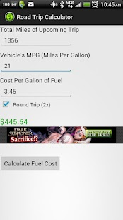 Road Trip Calculator Screenshot 2