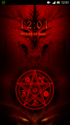 Red Demon Trap GO Locker Theme