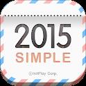 탁상달력 2015 : 심플 (위젯) icon