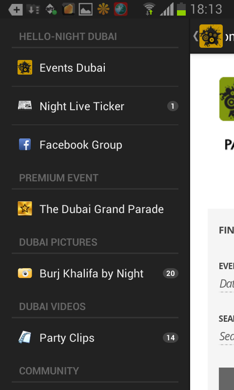 Hello-Night Dubai – Screenshot