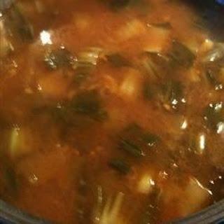 Bok Choy Beef Soup