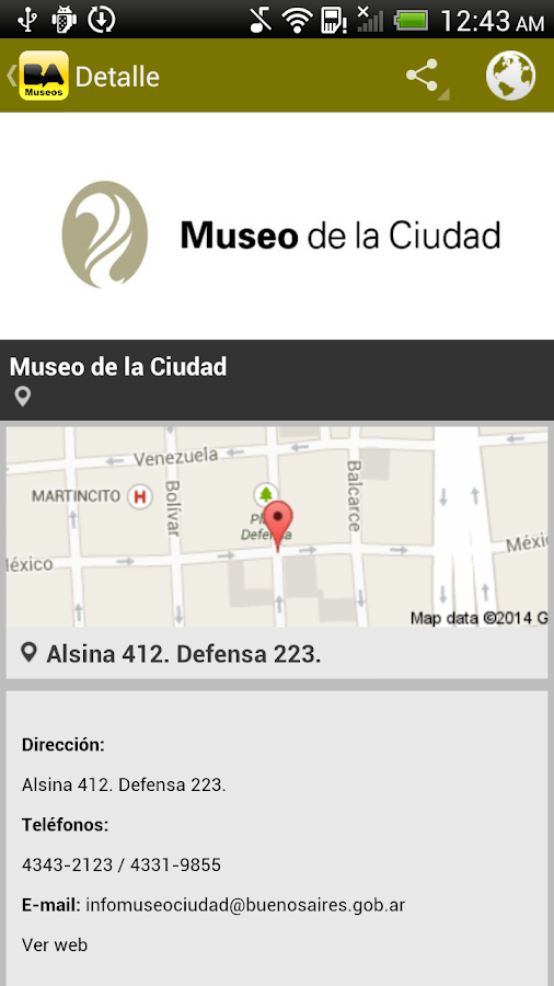 BA Museos - screenshot