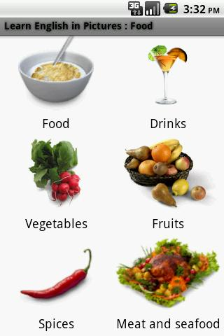 German in Pictures: Food - screenshot