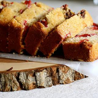 Honey Cranberry Cornmeal Quick Bread.