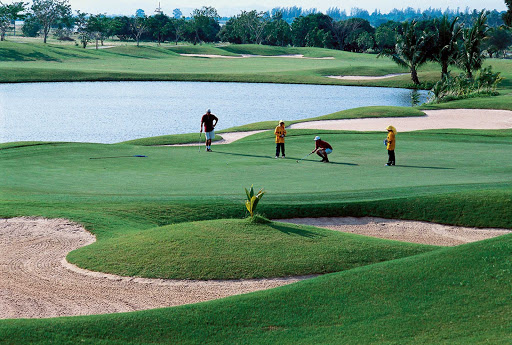 Thailand-golf-1 - A lush golf course in Thailand.