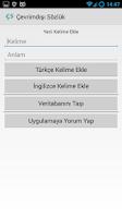 Screenshot of Çevrimdışı Sözlük (TR/EN)