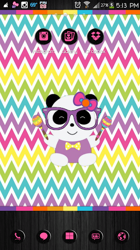 Panda Party Go Launcher Theme