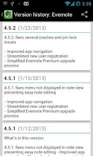 Changelog Droid - screenshot thumbnail