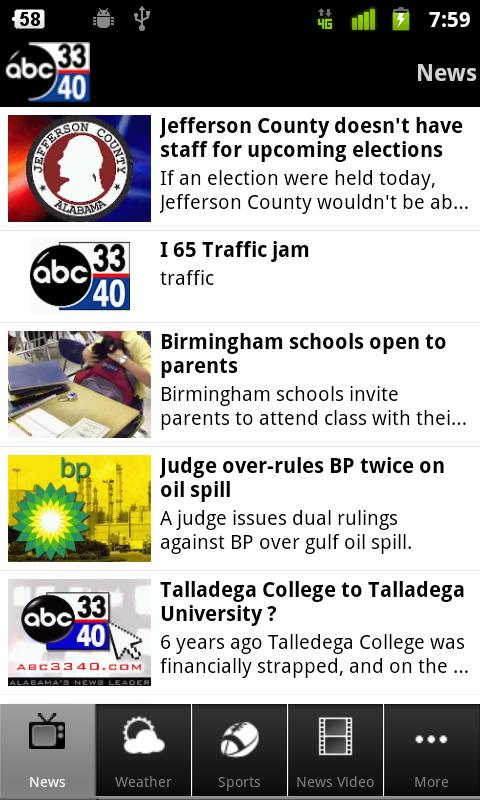 ABC 3340 - Alabama's News Lead - screenshot