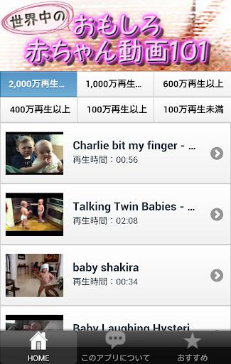 世界中のおもしろ赤ちゃん動画101