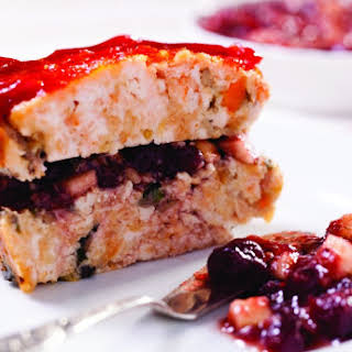 Brick-Shaped Turkey Meatloaf with Cranberry Charoset.