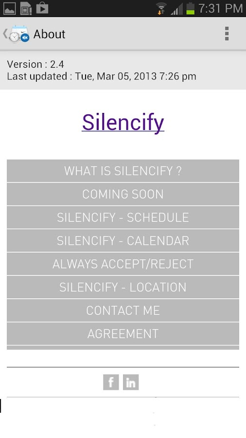 Silencify : Smart Silence - screenshot