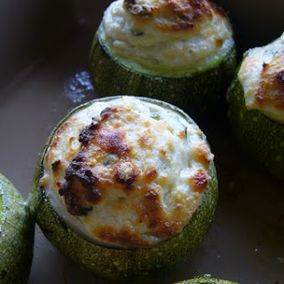 Round Zucchini Stuffed with Ricotta and Basil.