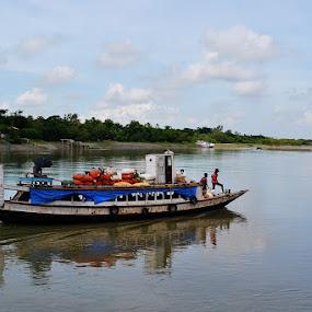Water Transportation  by Chobi Wala - Transportation Boats ( #nature, #transportation, #journey, #river, #boat, water, device, transportation,  )